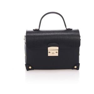 Čierna kožená kabelka Lisa Minardi Kara