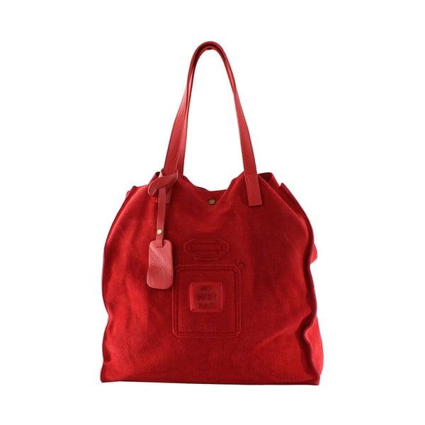 Kožená kabelka Perfume, červená