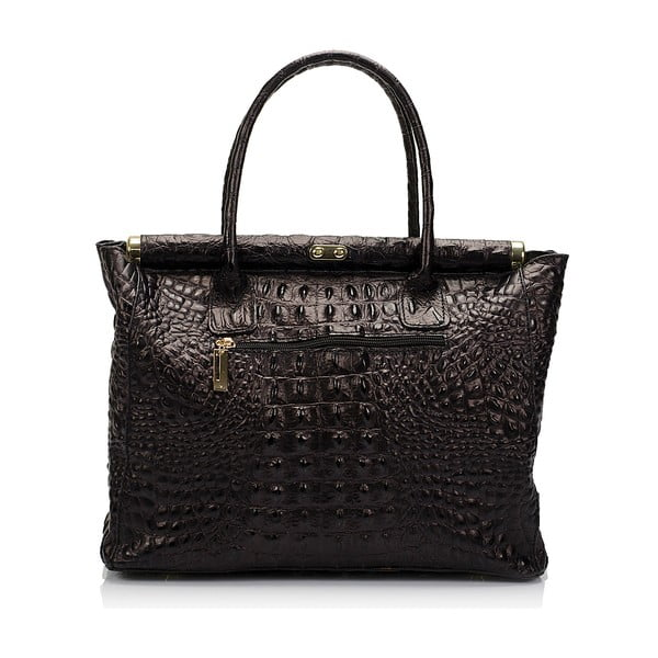 Čierna kožená kabelka Lisa Minardi Lantha