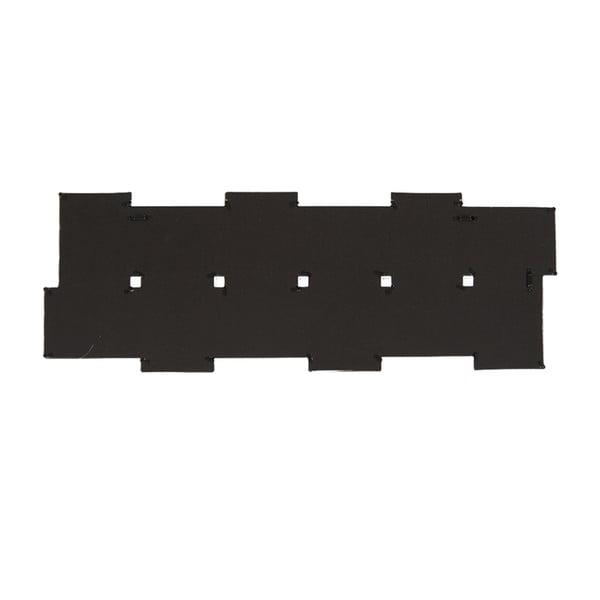 Sada dvanástich horizontálnych fotorámikov, čierna