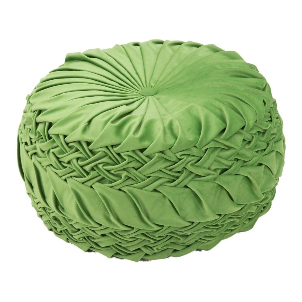 Zelený puf Mauro Ferretti Queen, ø 48 cm