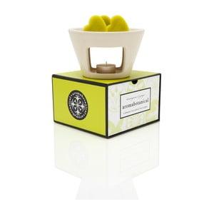 Aromalampa s vonnými voskmi s vôňou citrónovej trávy Aromabotanical Sweet Home, doba horenia 30hodín