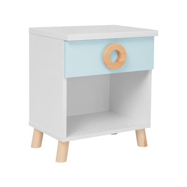 Modro-biely nočný stolík KICOTI Circle