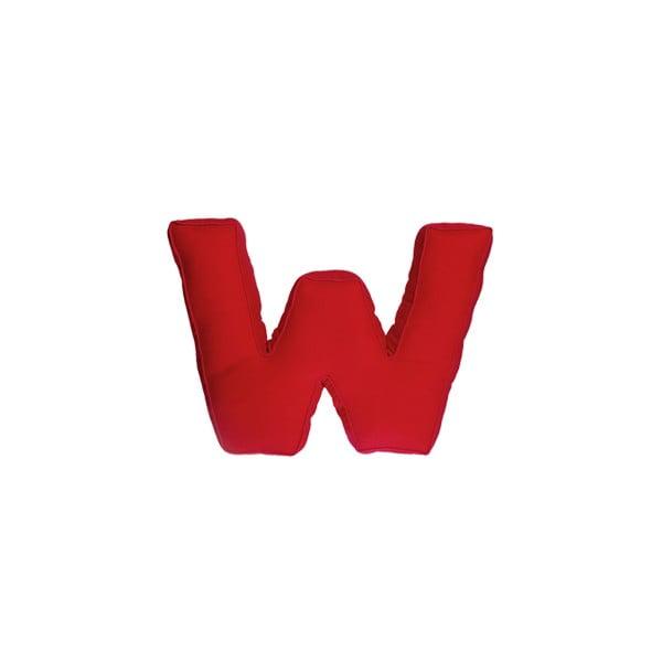 Látkový vankúš W, červený