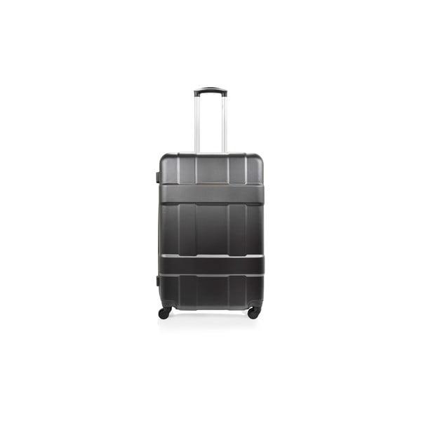 Sada 3 čiernych cestovných kufrov nakolieskach Hero Taylor
