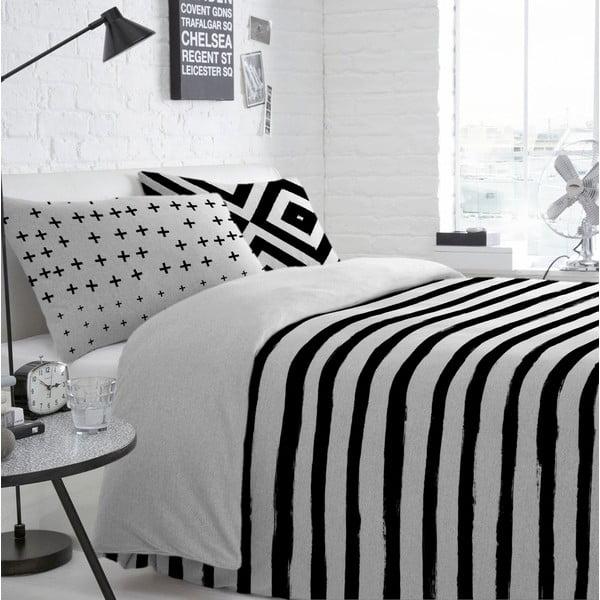 Bavlnená obliečka na paplón Blanc Stripes, 220 x 220 cm