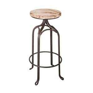 Barová stolička Antic Line Assise Blanc, ø 32 cm