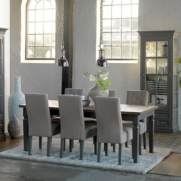 Sivý rozkladací jedálenský stôl Canett Royal, 200 cm