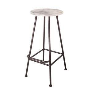 Barová stolička Antic Line Repose Blanc, ø 35,5 cm
