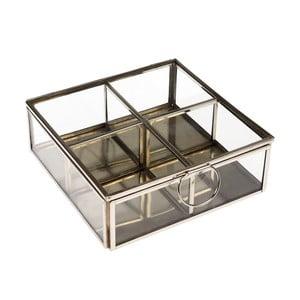 Strieborný box so 4 priehradkami Rex London Flavio