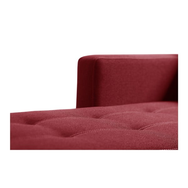 Červená rohová rozkladacia pohovka s úložným priestorom Interieur De Famille Paris Succès, pravýroh