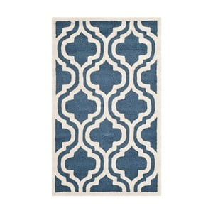 Modrý vlnený koberec  Safavieh Lola, 91x152 cm