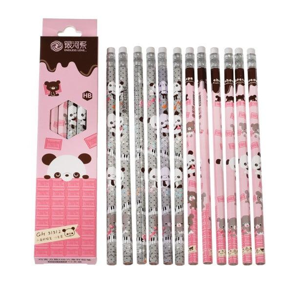 Sada 12 ceruziek Rex London Panda