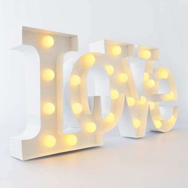 Dekoratívne svetlo Carnival Love, biele