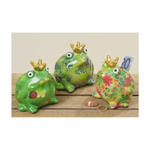 Sada 3 terakotových pokladničiek Boltze Frog