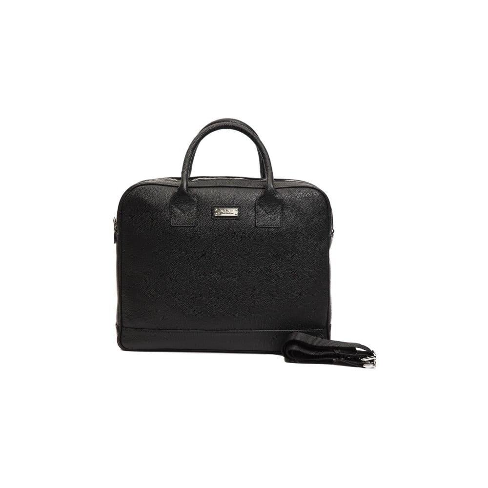 Čierna pánska kožená taška Alviero Martini Ruso