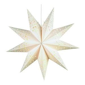 Svietiaca hviezda Solvalla White, 45 cm