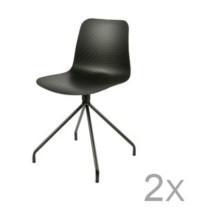 Sada 2 čiernych stoličiek DeEekhoorn Sis
