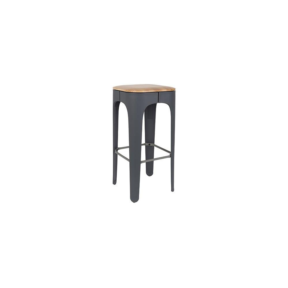 Sivá barová stolička White Label Up-High