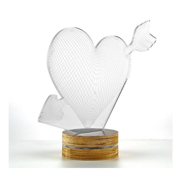 3D stolová lampa My Heart