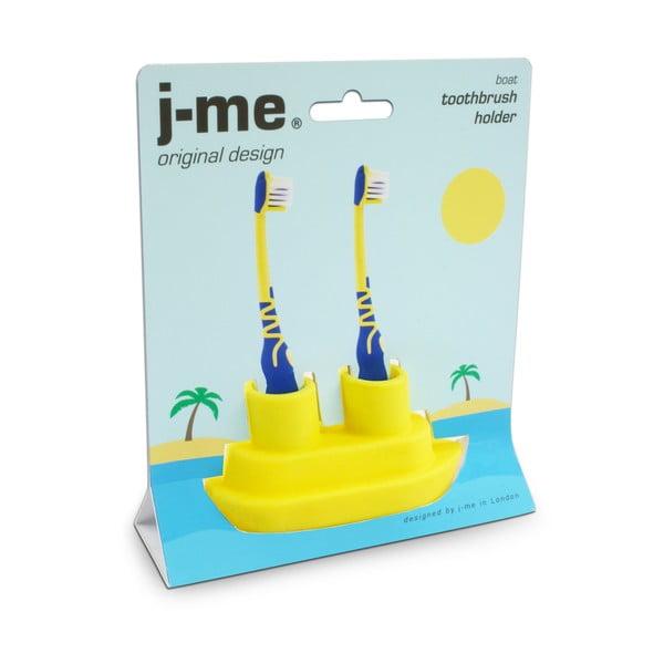 Žltý stojan na zubnú kefku J-Me Boat