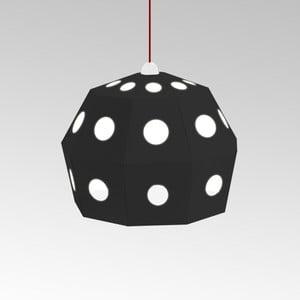 Kartónové svietidlo Uno Fantasia B Black, s červeným káblom