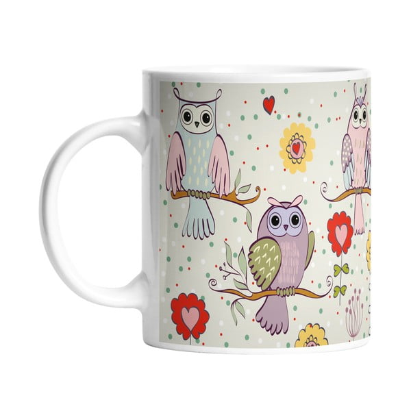 Keramický hrnček Owls in Love, 330 ml