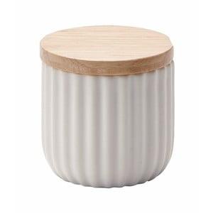 Malá biela dóza s vekom z dubového dreva Aquanova Ribba