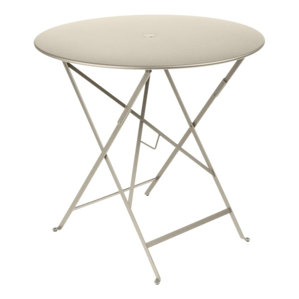 Svetlobéžový záhradný stolík Fermob Bistro, Ø 77 cm
