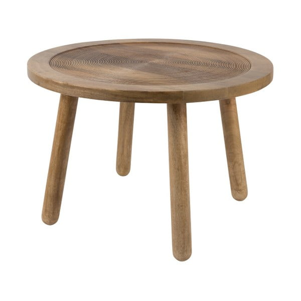 Odkladací stolík z mangového dreva Zuiver Dendron, Ø 60 cm