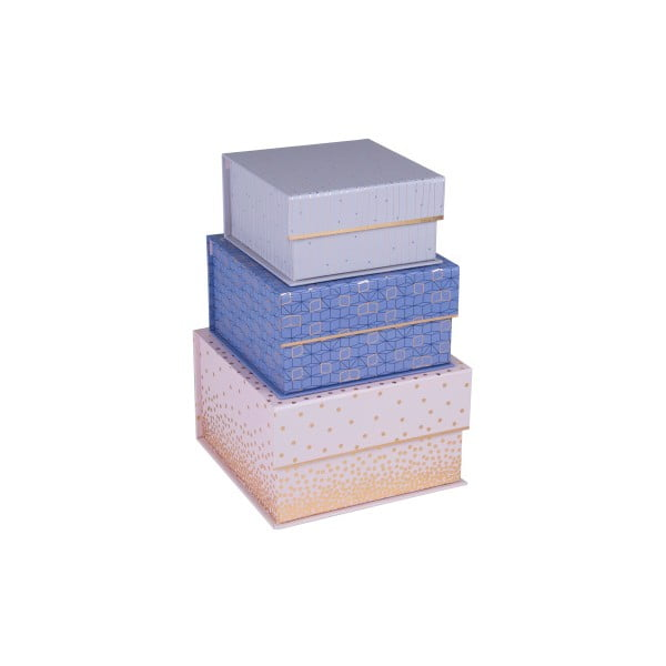 Sada 3 ks magnetických štvorcových boxov Tri-Coastal Sky and Glitters