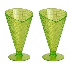 Sada 2 pohárov Sundae Lime