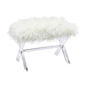 Biela stolička Kare Design Visible