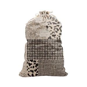 Látkový vak na prádlo Linen Bag Leopard, výška 75 cm