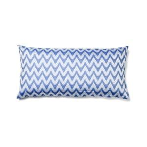 Modrá obliečka na vankúš z čistej bavlny Casa Di Bassi Aqua, 40 x 80 cm
