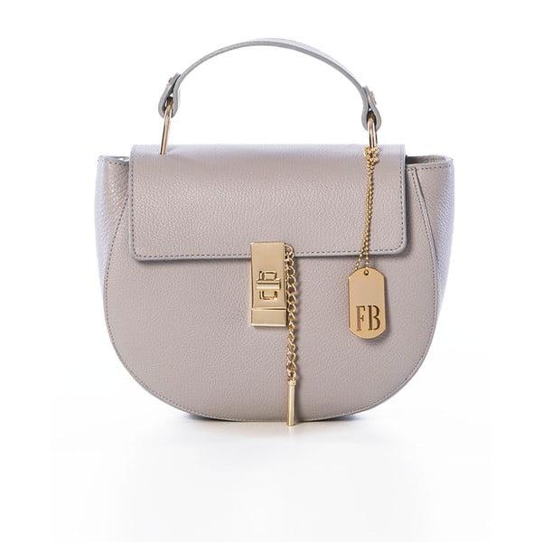 Sivo kožená kabelka Federica Bassi Virgin