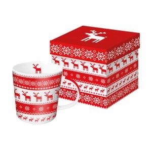 Porcelánový hrnček s vianočným motívom v darčekovom balení PPD Magic Rojo Christmas, 350 ml
