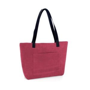 Červená kožená kabelka Woox Rostellum