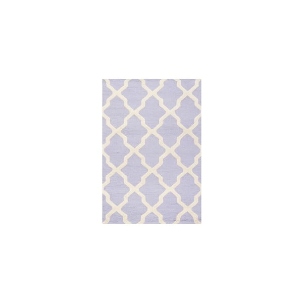 Vlnený koberec Ava Light Purple, 91x152 cm