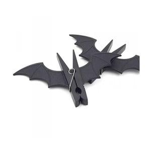 Sada 2 štipcov na bielizeň v tvare netopiera Gift Republic Bat