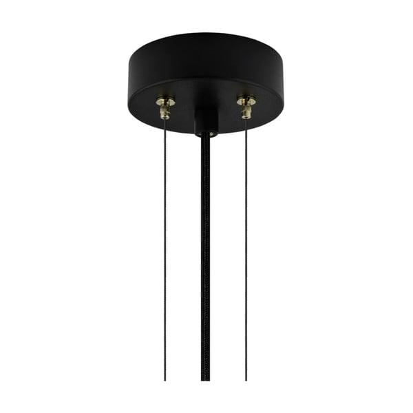 Závesná lampa v zlatej farbe Bulb Attack Cuatro, priemer 40 cm