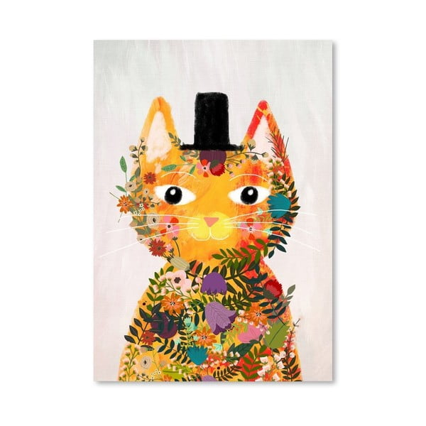 Plagát od Mia Charro -  Flower Cat