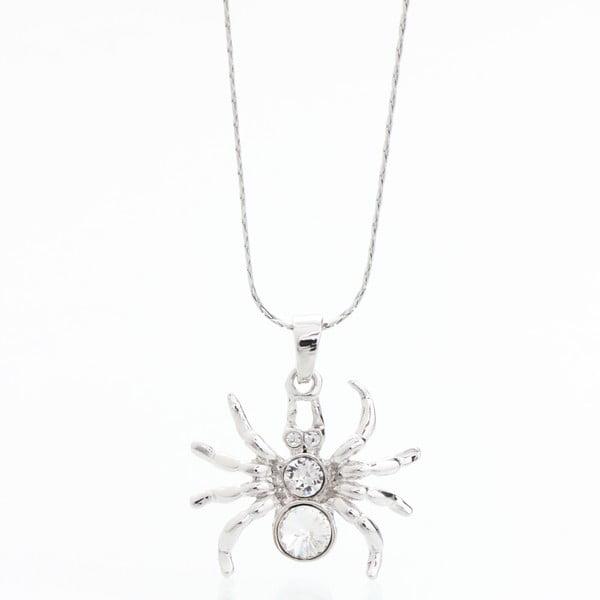Náhrdelník so Swarovski Elements, strieborný pavúk