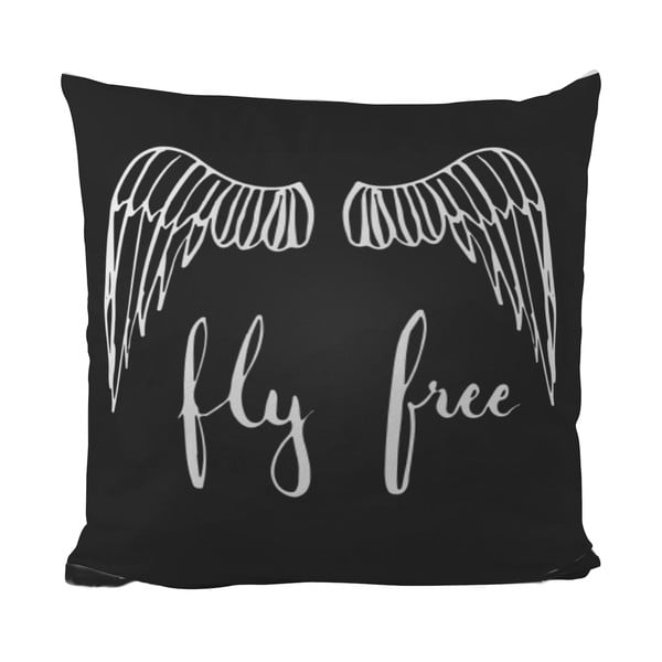 Vankúšik Black Shake Fly Free, 40x40 cm