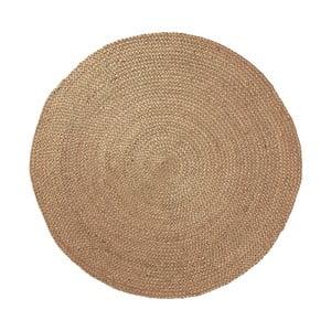 Jutový koberec Dip Ø100 cm, prírodný