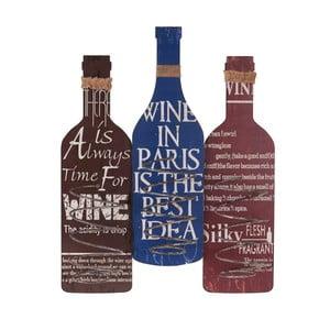 Drevený držiak na tri fľaše InArt, 45x56cm