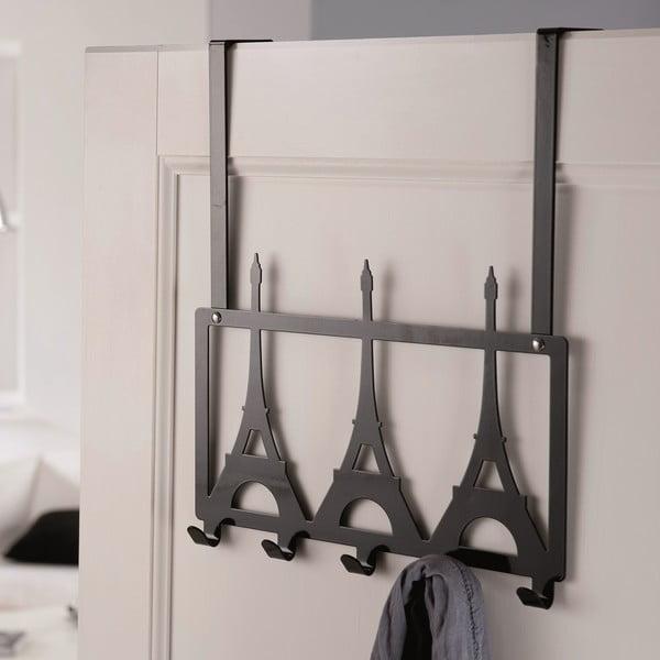 Čierny vešiak na dvere Compactor Eiffel