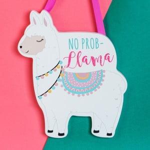 Nástenná závesná dekorácia Just 4 Kids Llama No Prob
