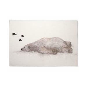 Detský ručne vyrobený koberec Naf Naf Snow Bear, 150×100 cm