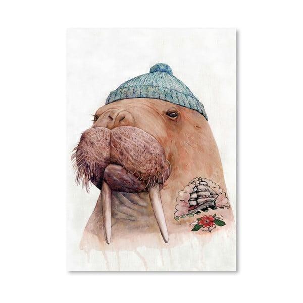 Plagát Tattooed Walrus, 30x42 cm